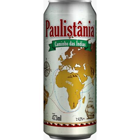 Cerv. Cerveja Paulistânia Caminho das Índias - Unid. Lata 472ml