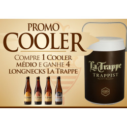 PROMO COOLER LA TRAPPE - GRÁTIS 4 LONGNEKS