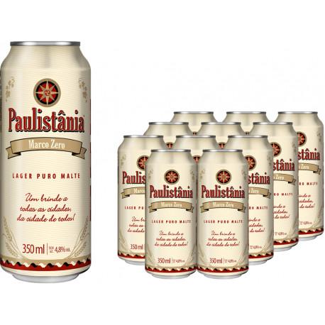 Cerveja Paulistania Marco Zero - pack com 12 latasx350 ml