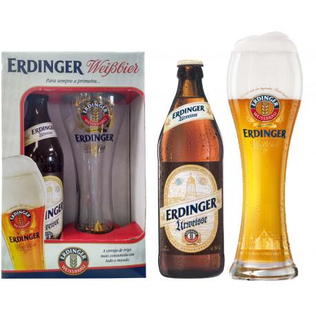 Kit Erdinger Urweisse- 1grf 500ml+1copo500ml