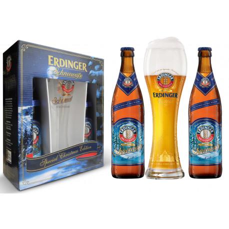 Kit Erdinger Schneeweisse - 2grfs 500ml+1copo 500ml