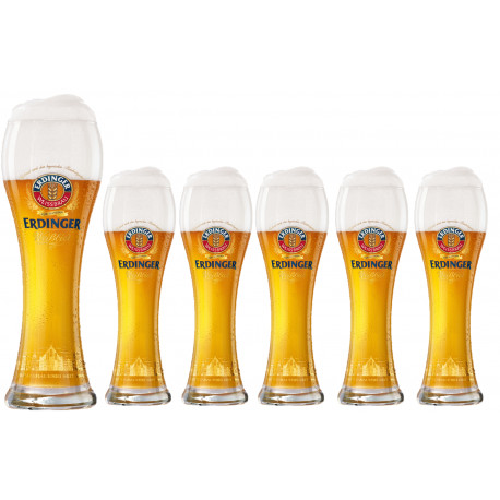 Copo Erdinger - cx 6unids 500ml