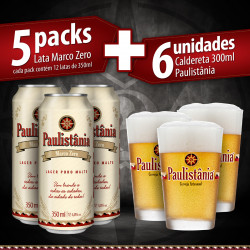 PROMO 5 packs lata Paulistânia Marco Zero + 6 calderetas