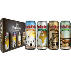 Kit Paulistânia 4Beer - degustação - 4 latas de 473ml cada