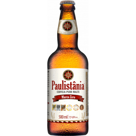 Cerveja Paulistania Marco Zero - unidade garrafa 500ml