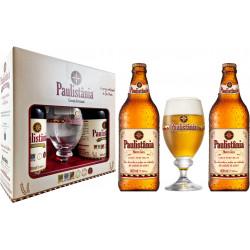 Kit Paulistania Marco Zero - 2 garrafas 600ml + 1 Taça 300 ml