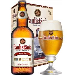 Kit Paulistania Marco Zero - 1 garrafa 500ml + 1 Taça 300 ml