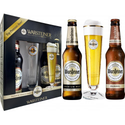 Kit Warsteiner - 2grfs 330ml (1clara/1escura) + 1tulipa 200ml