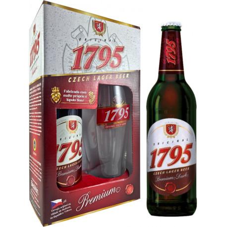 KIT Cerv. 1795 Dark - 1 gfa 500 ml + 1 copo 500ml