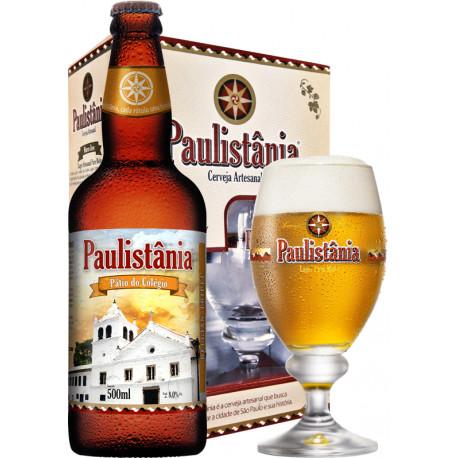 Kit Paulistania Pátio do Colégio - 1 garrafa 500ml + 1 Taça 300 ml