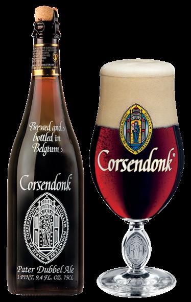 Imagem da garrafa Corsendonk Pater e seu copo