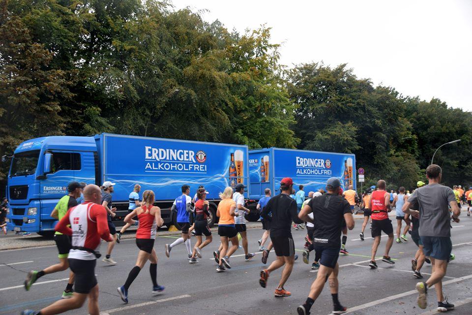 Maratona patrocinada pela cerveja sem álcool Erdinger Alkoholfrei