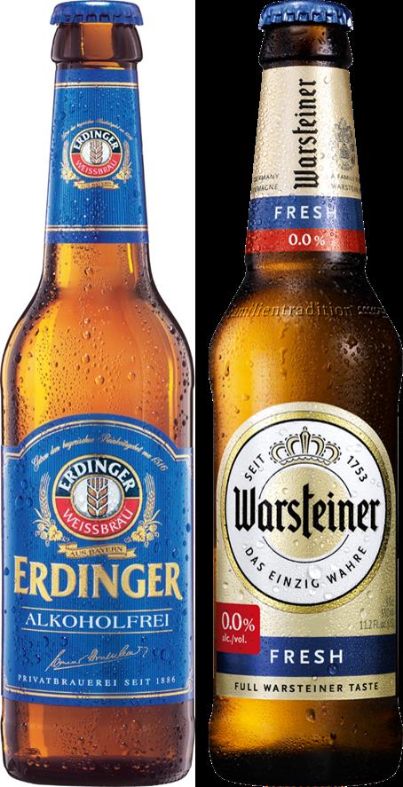 2 cervejas sem álcool