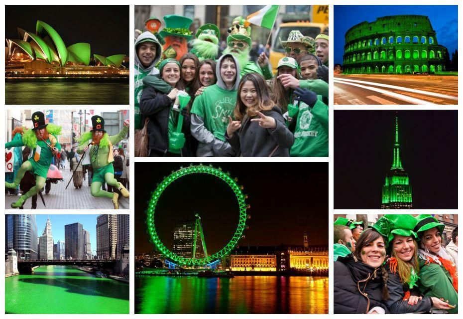 Imagens de Saint Patrick's Day pelo mundo
