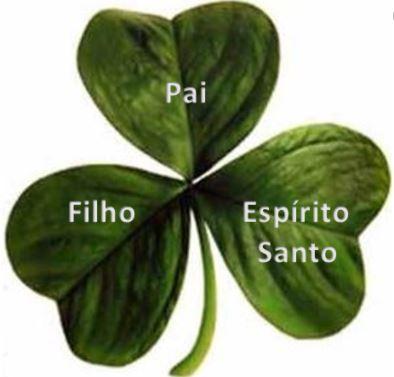 Trevo da Santissima Trindade usado para representar o Saint Patrick's Day
