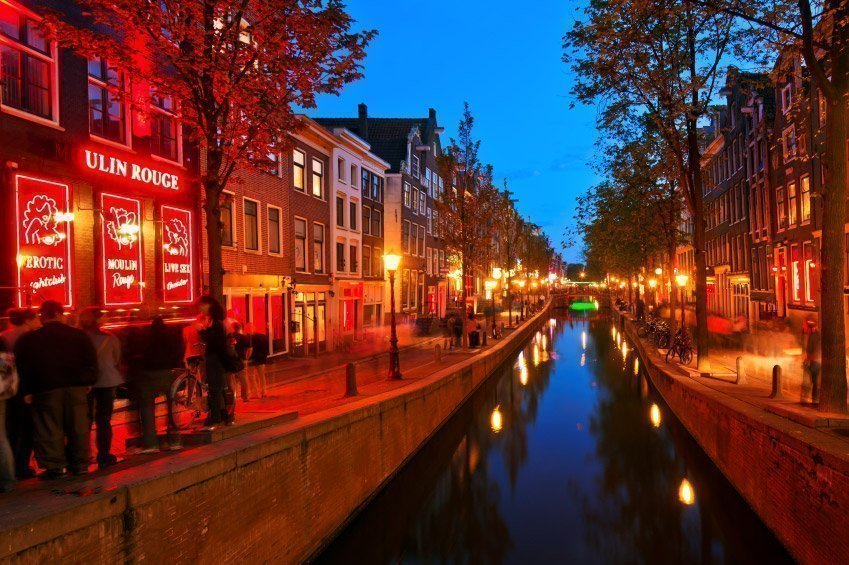 Bairro da Luz Vermelha em Amsterdam