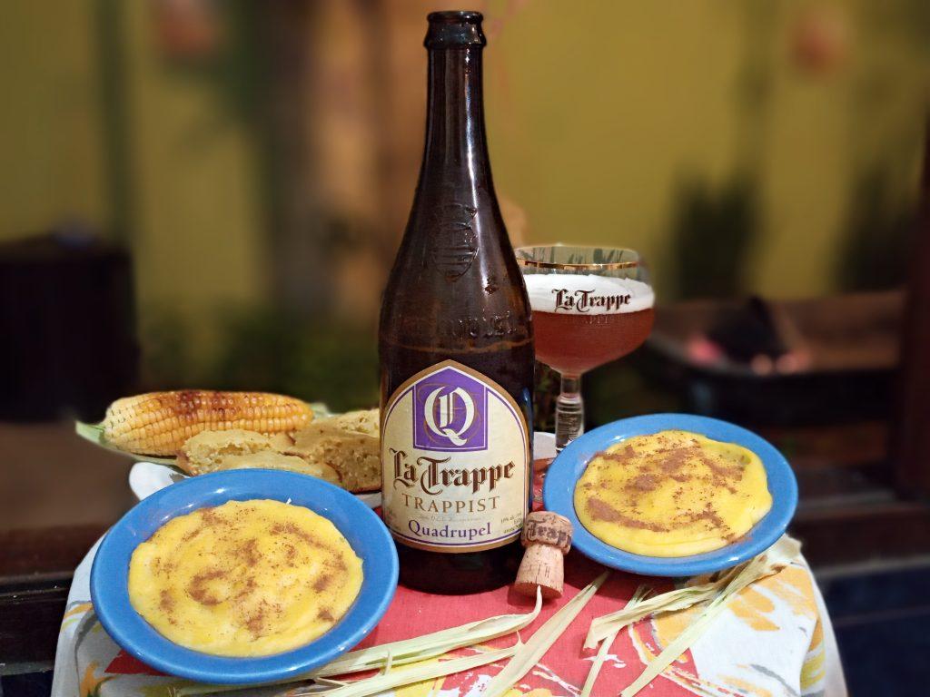 Festa Junina Cervejeira com La Trappe Quadrupel e canjica