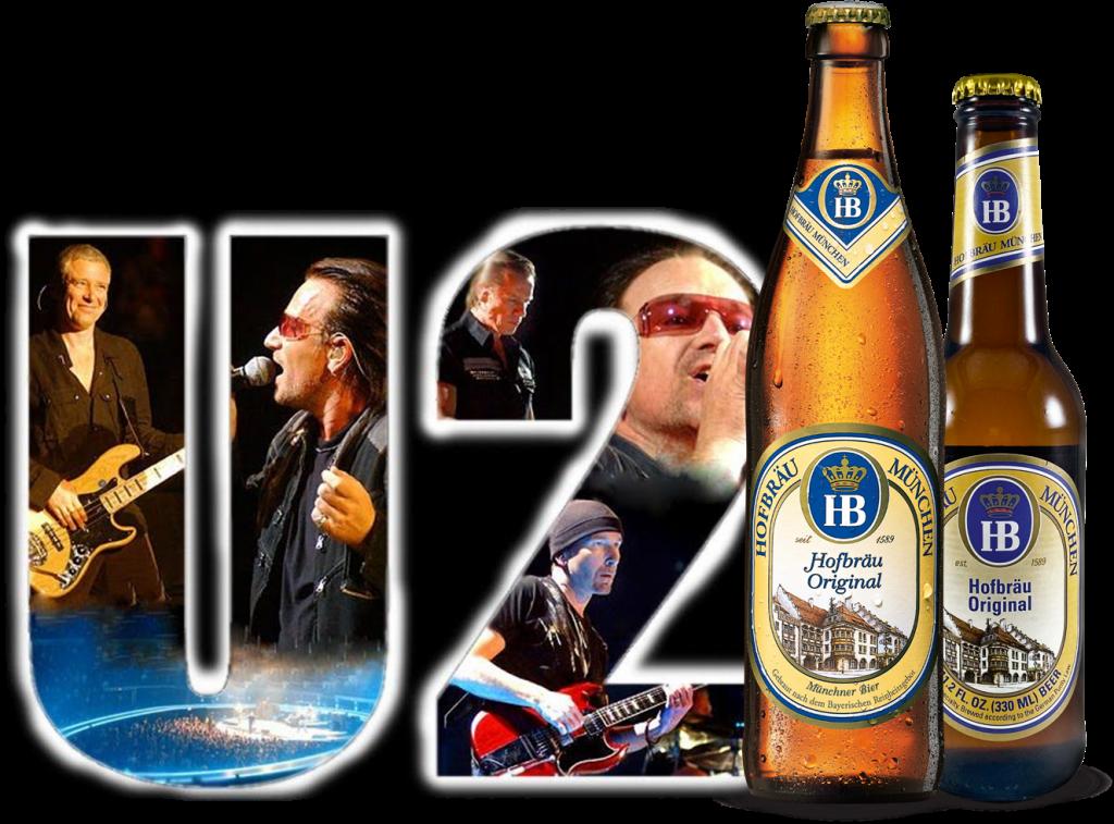 texto musica e cerveja banda U2