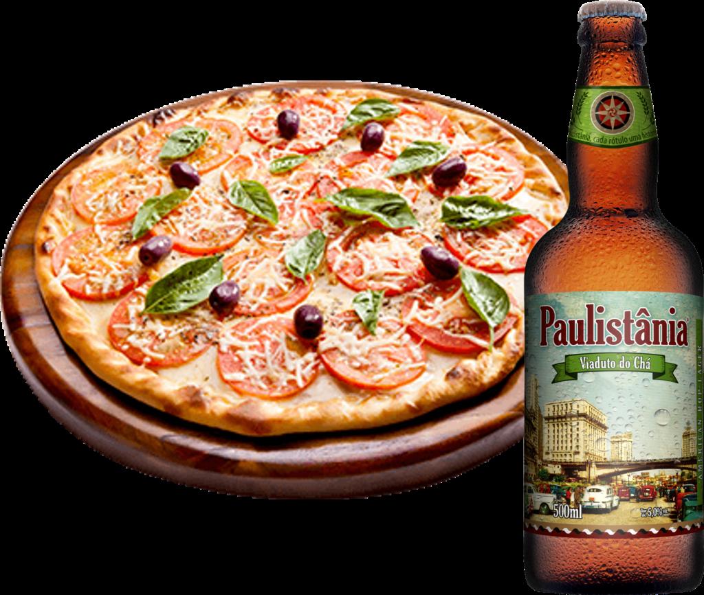 imagem pizza e Paulistânia