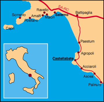 Mapa Castellabate
